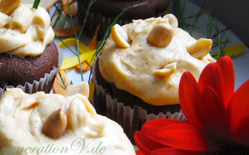 Schoko Muffins Mit Erdnussbutter Topping Vegan Generation V Is